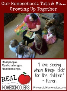 Homeschool interview with Karen from Tots and Me... Growing Up Together