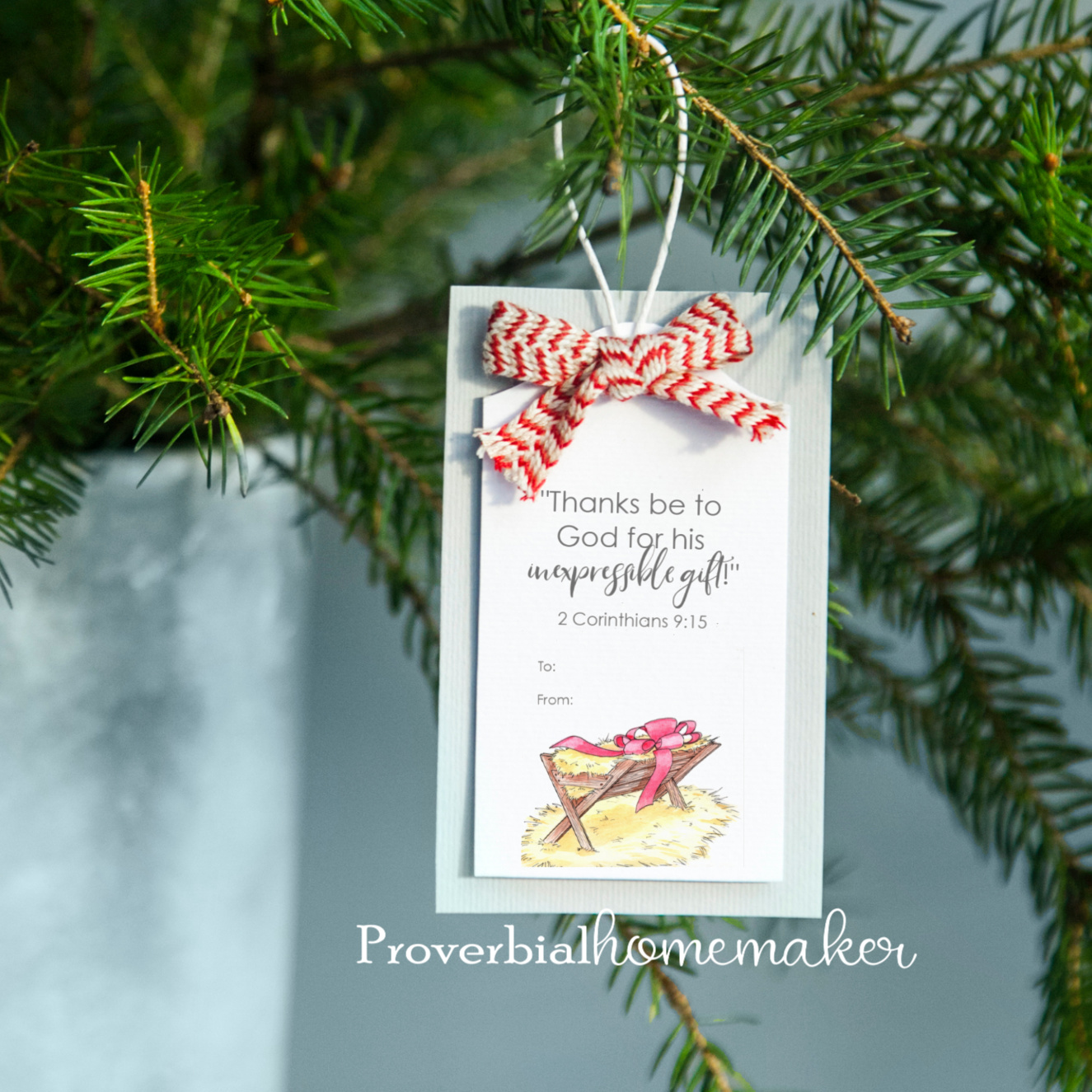 free Scripture printable Christmas gift tags