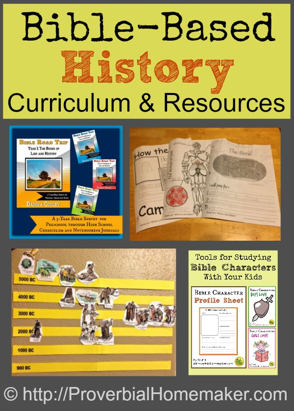 Curriculum and resources to teach history using the Bible