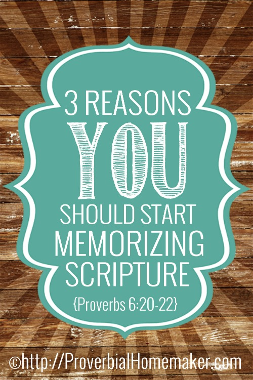 Reasons to memorize scripture