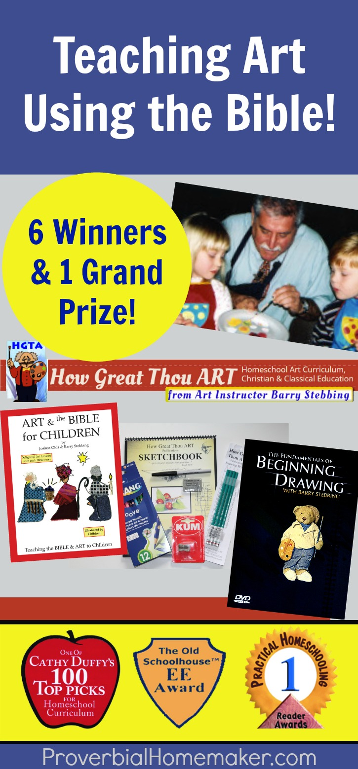 Teach Art using the Bible with this fantastic Christian art homeschool curriculum! How Great Thou Art is a wonderful way to teach art using the Bible.