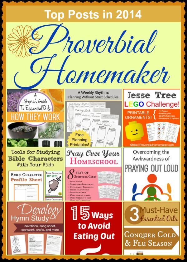 Top 2014 Posts at Proverbial Homemaker