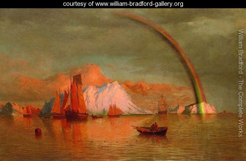 Arctic-Sunset-With-Rainbow