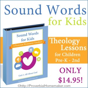Teach your kids all about God with Unit 1 of the Sound Words Westminster catechism curriculum!