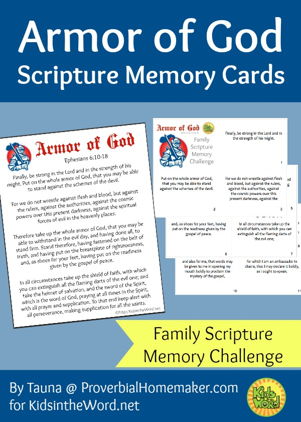 Armor of God Scripture Memory Cards