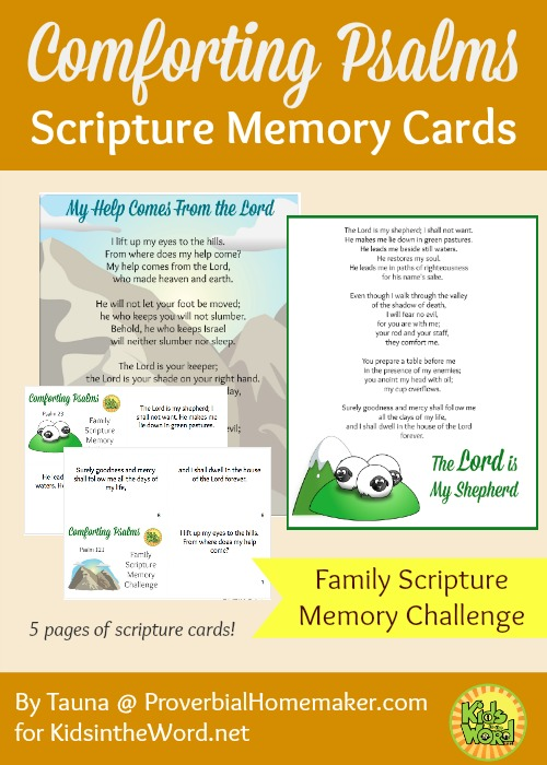 Comforting Psalms Scripture Memory Cards