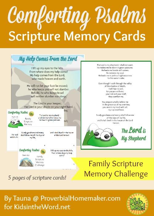 Comforting Psalms Scripture Memory Cards