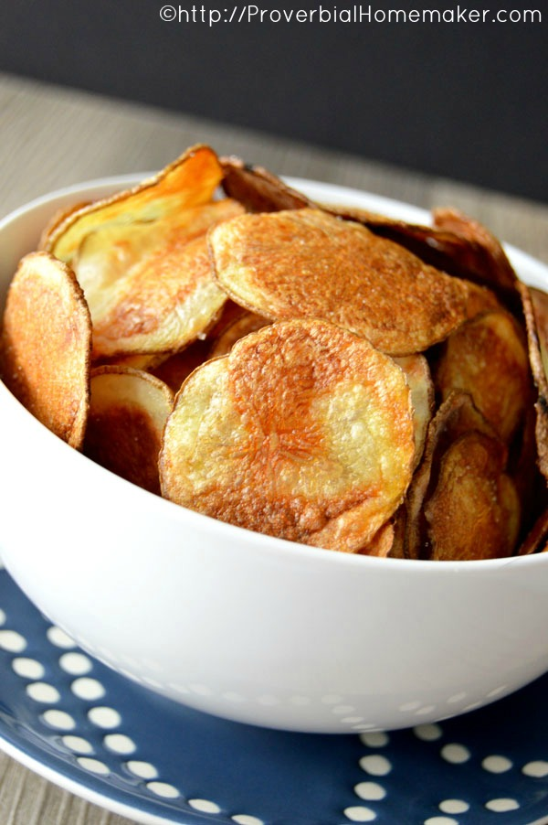 30 Minute Baked Potato Chips | Proverbial Homemaker