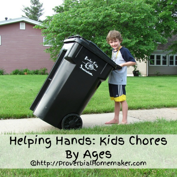 Teach your kids to be your helping hands with chores by age!