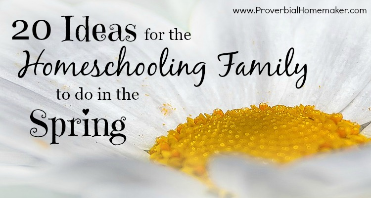 Ideas for homeschooling family to do in Spring