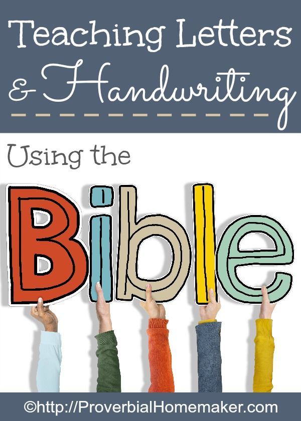 teach your children the bible while they learn handwriting and letter formation