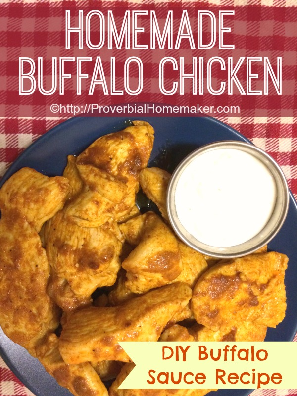 Buffalo Chicken Recipe with DIY Buffalo Sauce