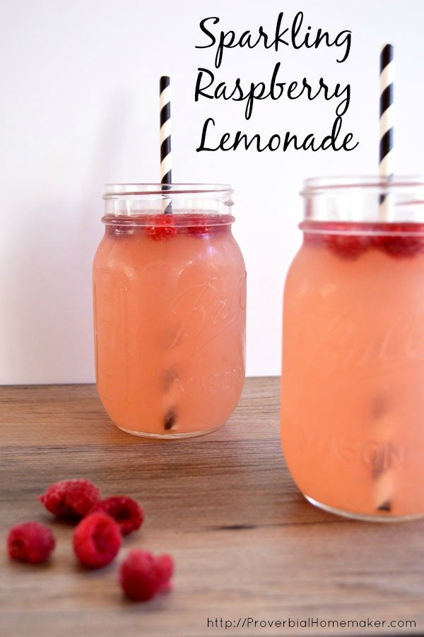 Sparkling raspberry lemonade is the perfect lemonade punch to serve to mom this mother's day