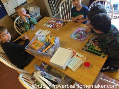 Busy Homeschool Mom's Cool Bag of Tricks playing games!