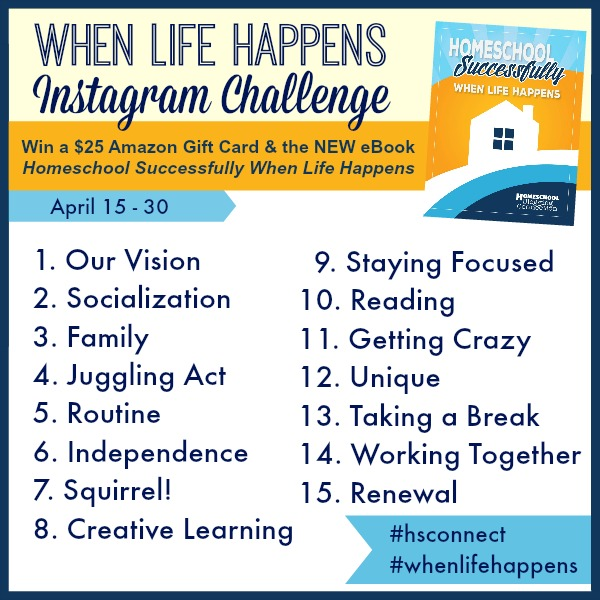 Homeschooling Successfully When Life Happens Instagram Challenge