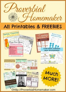 All Printables and Freebies at Proverbial Homemaker