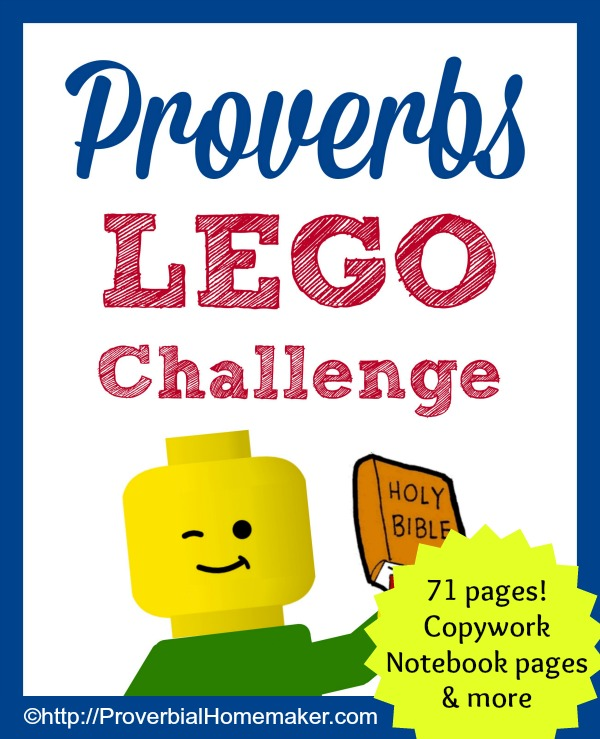 Explore Proverbs with your kids in a fun way with this Lego challenge!