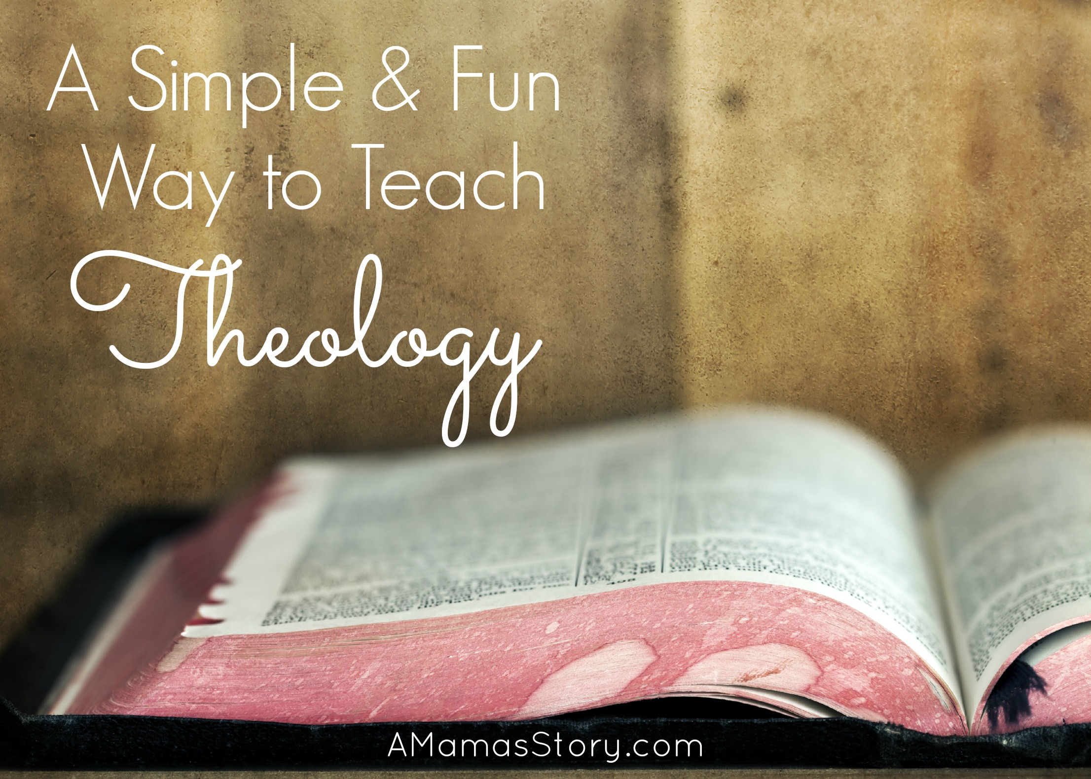 Teach your kids the foundational truths of the Christian faith in a simple and fun way!