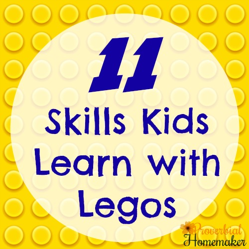 Teach great skills to your kids when they build with Legos and other building toys!