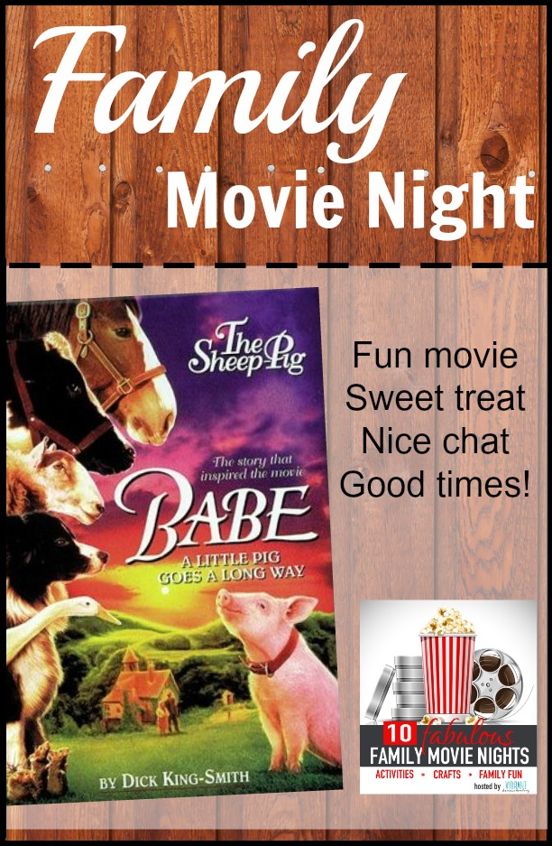 Babe is a movie that the whole family can enjoy! And the movie will come alive with these fun crafts, activities and discussion starters! Enjoy this family movie night... it's one of 10 movies highlighted for the Fabulous Family Movie Nights series on Vibrant Homeschooling. There's a new movie every Thursday through August 27!