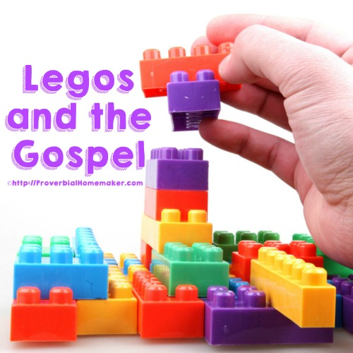 Use Legos to teach your child the gospel in a way that they will understand and remember!