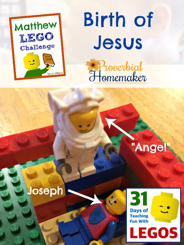 Day 2 of the Matthew Lego Challenge is the birth of Jesus
