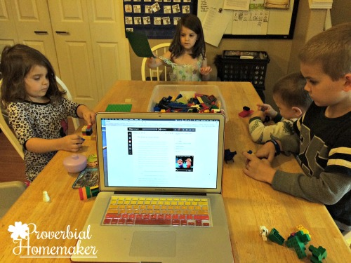 Kids of all ages can participate in the Bible Lego Challenges