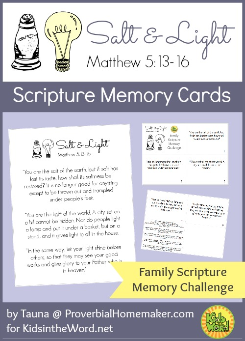 picture regarding Printable Memory Cards called Salt and Gentle Scripture Memory Playing cards Free of charge PRINTABLE