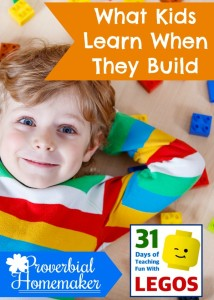 Kids learn so many skills when they are building with Legos and similar toys!