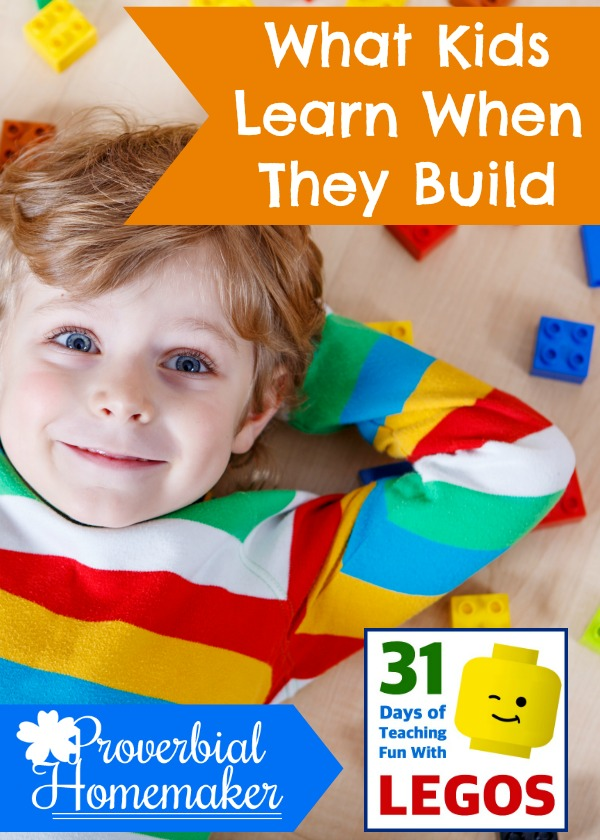 Kids learn so many skills when they build with Legos and similar toys!