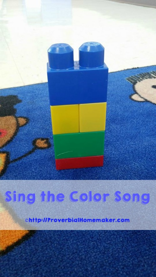 Use the color song to help teach your children about God as our creator.