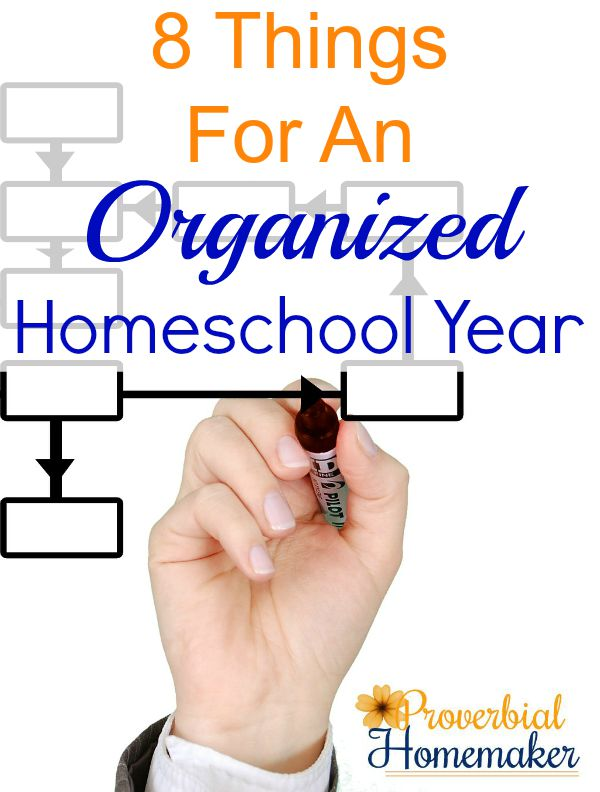 Tips for getting organized for the new homeschool year!
