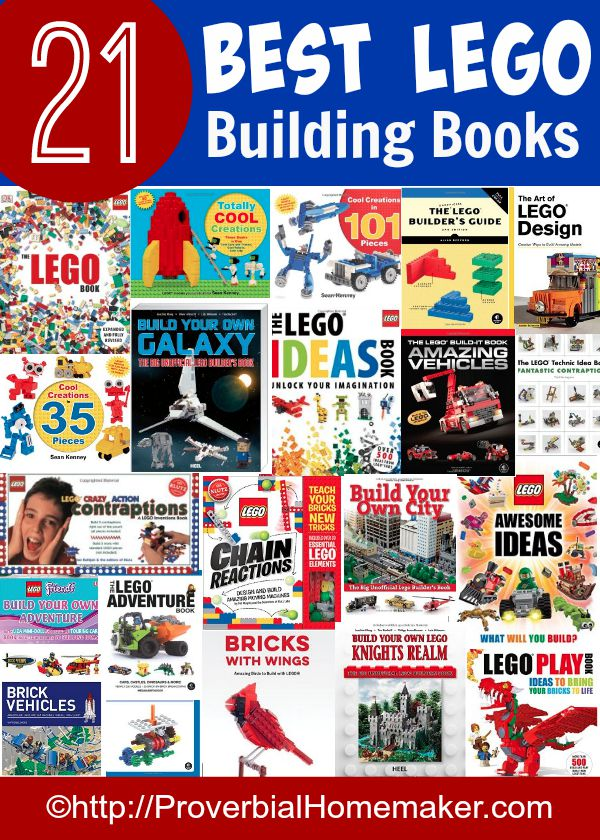 Check out some of these great books for Lego building tips