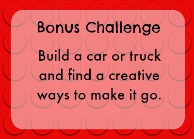 Bonus lego challenge - car or truck