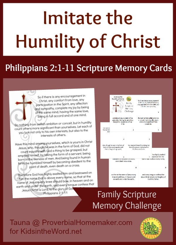 Imitate the Humility of Christ Scripture Memory Cards