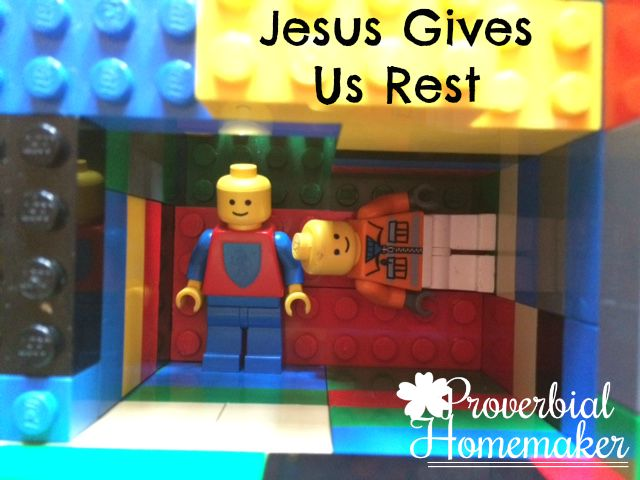 Build through the Bible with the Matthew Lego Challenge - Day 11: Jesus Gives Us Rest