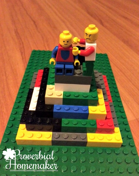 Build through the Bible with the Matthew Lego Challenge - Day 5: Temptation of Jesus