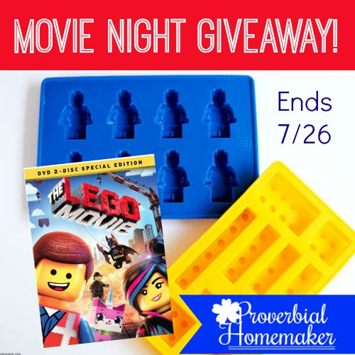 Win Lego candy molds and a 2-disc special edition DVD of The Lego Movie!