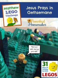 Jesus Prays in Gethsemane - Matthew Lego Challenge Day 17