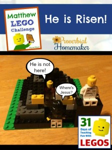 He is Risen! - Empty tomb, Matthew Lego Challenge Day 20