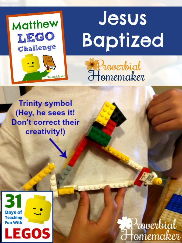 Build through the Bible with the Matthew Lego Challenge - Day 4: Baptism of Jesus (Trinity)