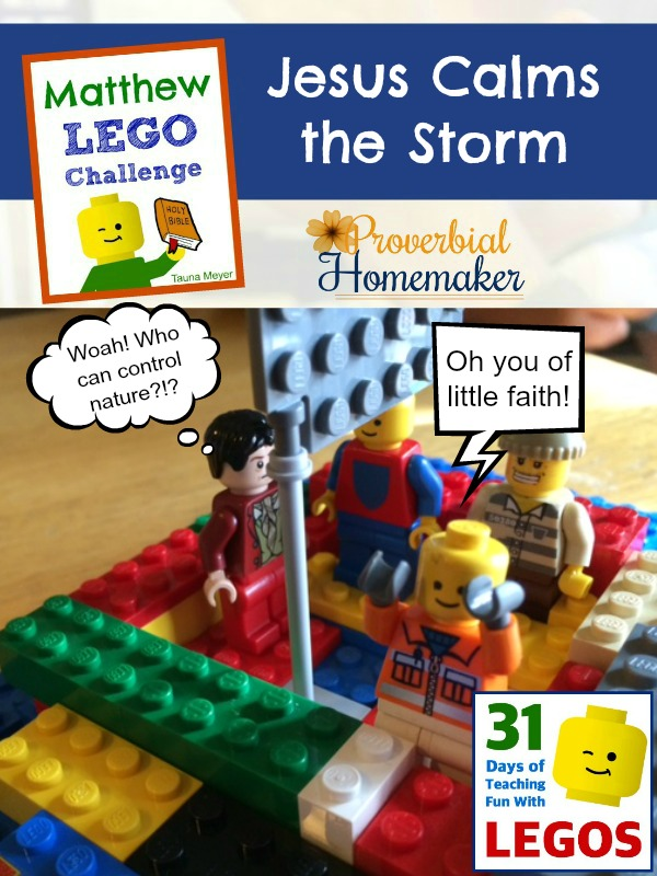 Build through the Bible with the Matthew Lego Challenge - Day 9: Jesus Calms the Storm
