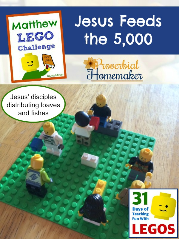 Build through the Bible with the Matthew Lego Challenge - Day 13: Jesus Feeds the 5,000