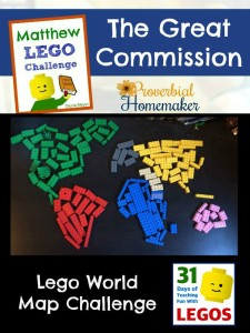 The Great Commission - Matthew Lego Challenge Day 21