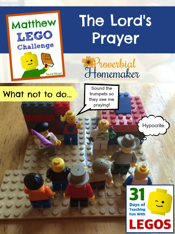Build through the Bible with the Matthew Lego Challenge - Day 8: The Lord's Prayer