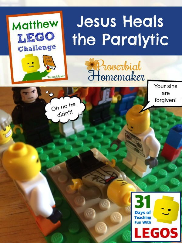 Build through the Bible with the Matthew Lego Challenge - Day 10: Jesus Heals the Paralytic