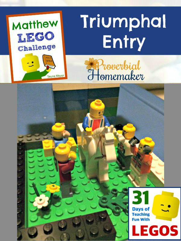Build through the Bible with the Matthew Lego Challenge - Day 14: Triumphal Entry