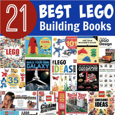 21 best Lego building books! Perfect Lego Christmas or birthday ideas for your little builders.