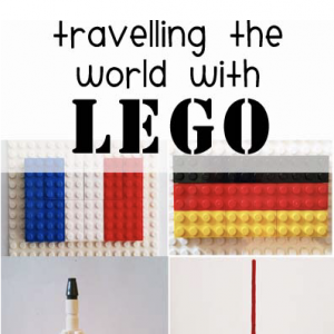 Traveling the world with Lego - explore different countries with Legos! A great Lego geography activity.