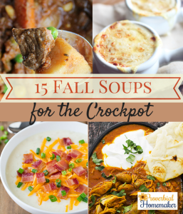 15 Fall Soups for the crock pot